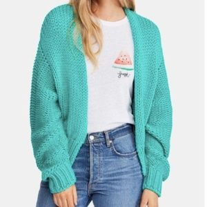 NWT Free People Glow For It Open Front Cardigan